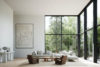 Vardagsrum designat av Lotta Agaton och Norrlands trä